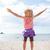 счастливым · босиком · девушки · пляж · работает · вечер - Сток-фото © elinamanninen