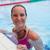 feminino · piscina · borda · sorridente - foto stock © ElinaManninen