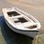 white rowing boat in mykonos greece stock photo © elinamanninen