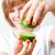 женщину · извести · свежие · продовольствие - Сток-фото © ElinaManninen