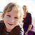 fiú · anya · tengerpart · portré · vidám · fiú · nő - stock fotó © ElinaManninen