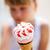 fagylalt · fiatal · lány · közelkép · kéz · aranyos · lány - stock fotó © ElinaManninen