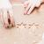 vág · mézeskalács · formák · közelkép · kéz · fiatal · lány - stock fotó © ElinaManninen