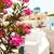 Санторини · Греция · красивой · розовый · цветы · Церкви - Сток-фото © ElinaManninen