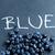 vers · bosbessen · woord · Blauw · geschreven · krijt - stockfoto © ElinaManninen