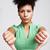 怒っ · 女性 · 親指 · ダウン · クローズアップ · 肖像 - ストックフォト © elinamanninen