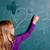 młoda · dziewczyna · piśmie · numery · Tablica · kredy · szkoły - zdjęcia stock © ElinaManninen