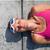 feminino · piscina · borda · feliz · quente - foto stock © ElinaManninen