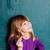 młoda · dziewczyna · Tablica · litery · stałego · alfabet - zdjęcia stock © ElinaManninen