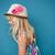 feliz · bonitinho · jovem · vista · lateral · elegante - foto stock © ElinaManninen