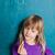 młoda · dziewczyna · Tablica · litery · stałego · alfabet · patrząc - zdjęcia stock © ElinaManninen
