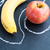 appel · banaan · binnenkant · krijt · schetst - stockfoto © ElinaManninen