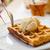 heerlijk · wafel · vanille · ijs · restaurant · tabel - stockfoto © ElinaManninen