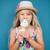 giovane · ragazza · mangiare · gelato · cute · vaniglia · cono · gelato - foto d'archivio © ElinaManninen