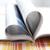 nyitott · könyv · szív · alak · könyv · szív · oktatás · lap - stock fotó © elinamanninen