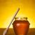 miel · jar · table · toile · bois · verre - photo stock © Elisanth