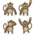 vector set of monkeys with different emotions stock photo © elisanth