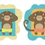 vector set of monkeys relaxing on the beach stock photo © elisanth