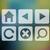 kleurrijk · pijl · iconen · achtergrond · groene · kompas - stockfoto © elisanth