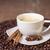 csésze · cappucchino · fahéj · ánizs · fókusz · textúra - stock fotó © Elisanth