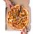 kadın · el · dilim · sıcak · pizza · üst - stok fotoğraf © elisanth