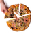 male hand picking tasty italian pizza slice stock photo © elisanth