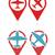 repülőgép · navigáció · ikon · gyűjtemény · kék · szürke · színek - stock fotó © elisanth