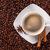 kávéscsésze · bab · fűszer · felső · kilátás · űr - stock fotó © elisanth