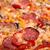 クローズアップ · ピザ · サラミ · キノコ · 木材 · 健康 - ストックフォト © elisanth