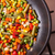 high angle view of pan with vegetables stock photo © elisanth