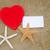 forma · de · coração · papel · praia · vermelho · dois · peça - foto stock © EllenSmile