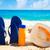 protetor · solar · starfish · praia · azul · óculos · de · sol - foto stock © ellensmile