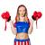 vrouwelijke · bokser · geïsoleerd · witte · vrouw · sport - stockfoto © elnur