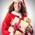 woman santa claus on white stock photo © elnur