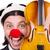 clown · zakenman · geïsoleerd · witte · business · partij - stockfoto © elnur