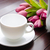 beker · thee · catering · bloemen · blad · glas - stockfoto © elnur