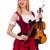 mulher · jogar · violino · isolado · branco · concerto - foto stock © elnur