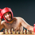 boxer stuggling with chess game stock photo © elnur