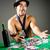 казино · дилер · стороны · рабочих · черный · весело - Сток-фото © elnur