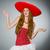mexican woman wearing sombrero hat stock photo © elnur