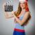 mulher · jovem · marinheiro · filme · conselho · feliz · arte - foto stock © elnur