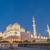 mecset · naplemente · éjszaka · istentisztelet · fehér · vallás - stock fotó © elnur