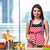 young woman preparing salad in the kitchen stock photo © elnur
