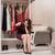 mulher · jovem · escolher · roupa · noite · festa · casa - foto stock © elnur