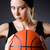 nő · játszik · kosárlabda · fekete · divat · modell - stock fotó © elnur