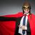 adam · kırmızı · kapak · yalıtılmış · beyaz · adam · beyaz - stok fotoğraf © elnur