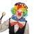 female clown with maracas isolated on white stock photo © elnur