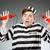 funny · Gefangener · Gefängnis · Mann · gun · Selbstmord - stock foto © elnur