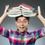 mosolyog · diák · tankönyvek · iskola · oktatás · tankönyv - stock fotó © elnur