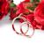 букет · роз · обручальными · кольцами · небольшой · красный · розовый - Сток-фото © elnur